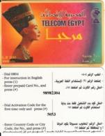 EGYPT - Nefertite(white Border), Telecom Egypt Prepaid Card 100 L.E., Used - Aegypten