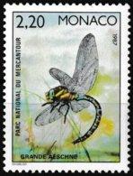 Timbre-poste Gommé Neuf** - Faune Insectes Du Parc National Du Mercantour Grande Aeschne - N° 1570 (Yvert) - Monaco 1987 - Monaco