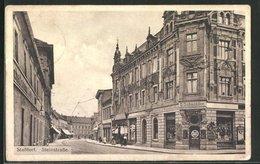 AK Stassfurt, Steinstrasse Mit Weinhandlung G. Schneider - Stassfurt