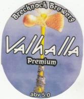 BRECKNOCK BREWERY (SASKATCHEWAN, CANADA) - VALHALLA PREMIUM - LAMINATED PUMP CLIP FRONT - Uithangborden