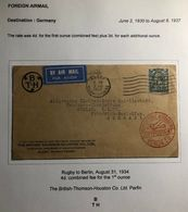 1935 Rugby England Airmail Cover To Berlin Germany Perfin Stamp Mazda Lamps - Great Britain