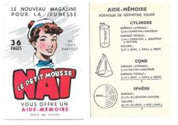 KB353 - AIDE MEMOIRE GEOMETRIE DES SOLIDES - MAGAZINE LE PETIT MOUSSE - Cromo
