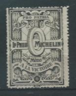 VIGNETTE PATRIOTIQUE DELANDRE - LE PNEU MICHELIN Méne à La Victoire - WWI WW1 Cinderella Poster Stamp 1914 1918 - Vignettes Militaires
