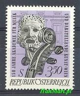 Austria 1967 Mi 1253 MNH ( ZE1 AST1253 ) - Music