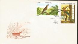 V) 1978 CARIBBEAN, ENDEMIC BIRDS, MOCKINGBIRD, MACAW, WITH SLOGAN CANCELATION IN BLACK, FDC - FDC