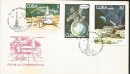 V) 1978 CARIBBEAN, COSMONAUT'S DAY, INTERCOSMOS, LUNA 24, LUNAJOD II, WITH SLOGAN CANCELATION IN BLACK, FDC - FDC