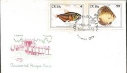 V) 1978 CARIBBEAN, LENIN PARK AQUARIUM, HAVANA, HIPHESSOBRYCON FLAMMEUS, BLACK CANCELLATION, FDC - FDC