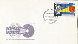 V) 1978 CARIBBEAN, WORLD TELECOMMUNICATION DAY, SATELITE, PLANET EARTH, WAVES, BLACK CANCELLATION, FDC - FDC