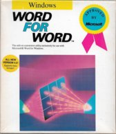 Word For Word 4.2, Pour Word Windows, En Anglais (1990, TBE+) - Autres