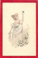 VIENNOISE Illustrateur FEMME ET OISEAU - Gut Vienne - Frauen