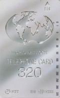 TC Japon / NTT 110-017 - 320 U - Globe Map  ** ONE PUNCH ** - Japan National Phonecard - 01 - Japan