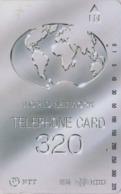 Télécarte Japon / NTT 110-017 - 320 U - Globe Map  - Japan National Phonecard Telefonkarte - 02 - Japan