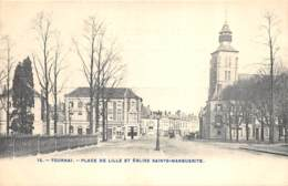 Tournai - Place De Lille Et Eglise Ste-Marguerite - Doornik