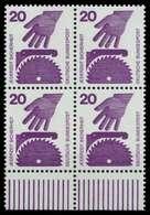 BRD DS UNFALLVERHÜTUNG Nr 696A Postfrisch VIERERBLOCK U X926B6E - [7] Repubblica Federale
