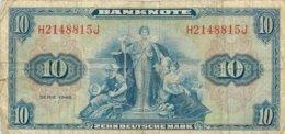 10 Zehn Deutsche Mark . Bank Deutscher Lande. Série 1949.  Allemagne - Germany - 10 Deutsche Mark