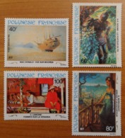 Polynésie Française: Yvert N° PA 178 à 181 (Peintures Du 20e Siècle, 1983) Neufs ** - Arts