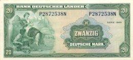 BANK DEUTSCHER LÄNDER , 20 Deutsche Mark , Zwanzig , Serie 1949 , Frankfurt Am Main. Near Mint - 20 Deutsche Mark