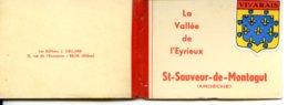 07190 SAINT-SAUVEUR-DE-MONTAGUT - Joli Petit Carnet De Cartes Photo - Format 6,6 X 9 Cm - Voir Description - Francia