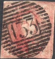BELGIUM KING LEOPOLD I MEDAILLON 40c Pink Carmine, Postmarked 133 BAR CANCEL ( Unknown Watermark ) - Belgium