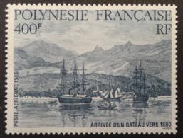 Polynésie Française: Yvert N° PA 191 (Arrivée D'un Bateau Vers 1880, Année 1986) Neuf ** - Autres
