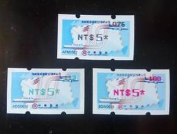 Black, Red & Green Imprint ATM Frama Stamp-2019 10th Anni Cross-strait Direct Mail Services Plane Ship Map Unusual - Errori Sui Francobolli