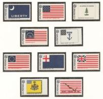 United States 1968 Mi# 951-60** HISTORIC FLAGS - Unused Stamps