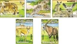 Botswana 2019 Wetlands Part 5 And Animals 5v Mint - Botswana (1966-...)