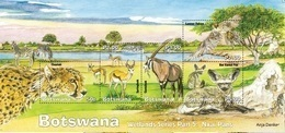 Botswana 2019 Wetlands Part 5 And Animals Ss Mint - Botswana (1966-...)