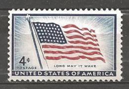 1957 3 Cents Flag Mint Never Hinged - Stati Uniti