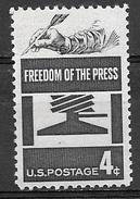 1958 4 Cents Freedom Of Press, Mint Never Hinged - Ongebruikt