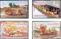 Thailand 2019 Tradional Festival 4v Mint - Thailand