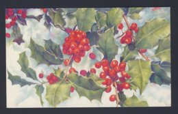 Christmas - Holly Red Berries - Advertising On Back For Magazine Subscription Meter PU1983 Postcard - Natale