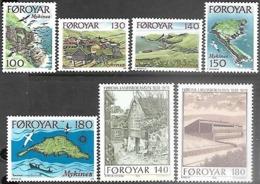 Faroe Islands  1978   Sc#31-5, 39-40  Sets  MNH   2016 Scott Value $3.80 - Islas Faeroes