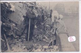 ASNIERES- INONDATIONS DE 1910- LE DEPOT DES ORDURES DE LA VILLE DE PARIS- PONT D ASNIERES - Asnieres Sur Seine