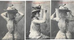 La Voilette (3cartes) (style Bergeret) (éd. Royer) - Femmes