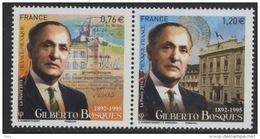 N° 4970 & 4971 Gilberto Bosques Faciale 0,76 + 1,20 € - France