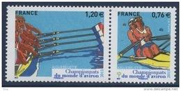 N° 4973 & 4974 Championnats Du Monde D'aviron Faciale 0,76 + 1,20 € - France