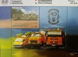 O) 2019 PARAGUAY,FIRE BRIGADE -RESCUE GROUP -FIRETRUCK -CBVP WORK VEHICLE, MNH - Paraguay