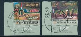 BOSNIEN-HERZEGOWINA (Serbische Republik ) Mi.Nr. 386-387 (HBlatt 10)  Pfadfinder - 2007- Used - Europa-CEPT
