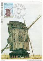 """"""" MOULIN DE STEENVOORDE """" Sur Carte Maximum De 1979 N° YT 2042  . Parfait état. CM - Molens"""