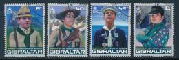GIBRALTAR Mi.Nr. 1210-1213  Pfadfinder - 2007- Used - Europa-CEPT