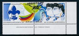 GRIECHENLAND Mi.Nr. 2421-2422 A  Pfadfinder - 2007- Used - Europa-CEPT