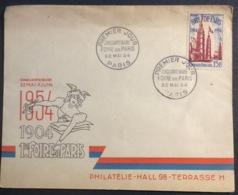 74- Foire De Paris Cinquantenaire 975 FDC Premier Jour 22/5/1954 Lettre - FDC