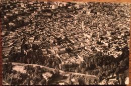 Cpsm, OUJDA (MAROC) Vue Aérienne, Ensemble  De La Ville, Au Premier Plan, Le Cours M.Varnier,1953, Timbre, éd Greff - Marocco