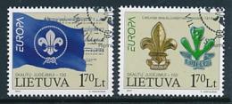 LITAUEN  Mi.Nr. 933-934 Pfadfinder - 2007- Used - Europa-CEPT