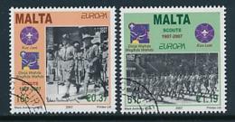 MALTA Mi.Nr. 1514-1515  Pfadfinder - 2007- Used - Europa-CEPT