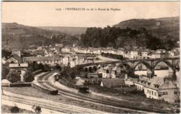 3YF 716 CPA - CHATEAULIN VU DE LA ROUTE DE PLEYBEN - Châteaulin
