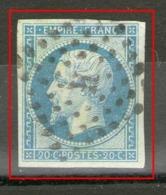 "N° 14 I° Sur Verdâtre_ Losange ""H"" Romain_cote 20.00+ - 1853-1860 Napoléon III"