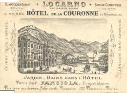 LOCARNO  HOTEL De La COURONNE  RV - TI Tessin