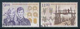 NORWEGEN  Mi.Nr. 1619-1620  Pfadfinder - 2007- Used - Europa-CEPT